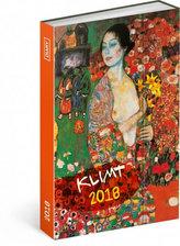 Diář 2018 - Gustav Klimt, týdenní magnetický, 10,5 x 15,8 cm