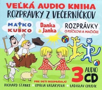 3CD BOX Veľká audio kniha - Rozprávky z večerníčkov - autor neuvedený