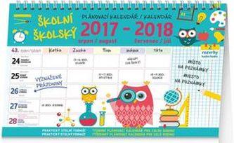 Školní plánovací s háčkem - nástěnný kalendář 2018 - neuveden