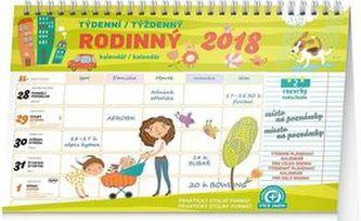 Rodinný plánovací s háčkem - nástěnný kalendář 2018