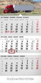3měsíční truck šedý 2018 - nástěnný kalendář