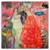 Gustav Klimt   - nástěnný kalendář 2018