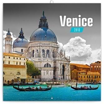 Benátky - nástěnný kalendář 2018