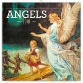 Andělé - nástěnný kalendář 2018
