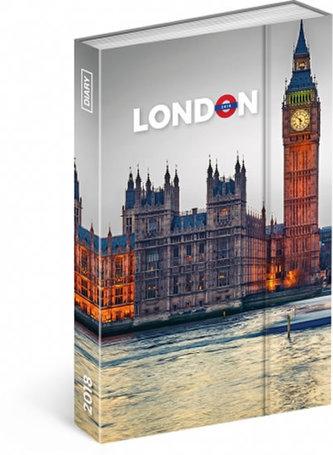 Diář 2018 - Londýn, týdenní magnetický, 10,5 x 15,8 cm - neuveden