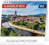 Nejkrásnější místa Čech a Moravy - stolní kalendář 2018