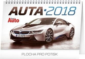 Auta - stolní kalendář 2018