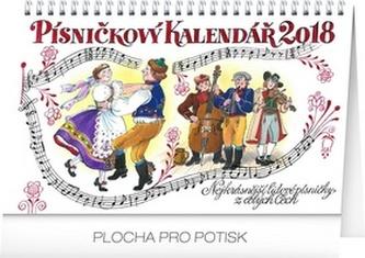 Písničkový kalendář - stolní kalendář 2018