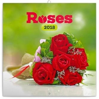 Růže - nástěnný kalendář 2018