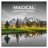 Magické národní parky - nástěnný kalendář 2018