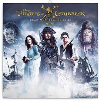 Pirates of the Caribbean Dead Men Tell No Tales - nástěnný kalendář 2018
