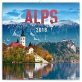 Alpy - nástěnný kalendář 2018