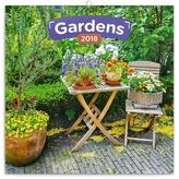 Zahrady - nástěnný kalendář 2018