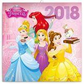 Princezny - nástěnný kalendář 2018