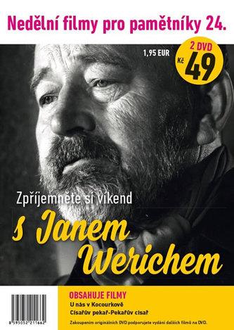 Nedělní filmy pro pamětníky 24. - Jan Werich - 2 DVD pošetka - neuveden