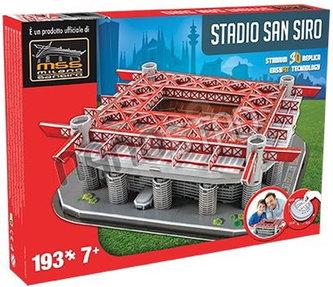 3D Puzzle Nanostad Italy - San Siro fotbalový stadion Milan´s packaging - DOMINGO STEREO