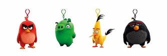 Angry Birds - 9cmplyšová hračka s nylon přívěskem (více druhů) - neuveden