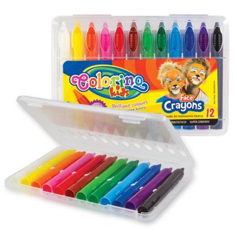 Colorino barvy na obličej v pouzdře 12 barev
