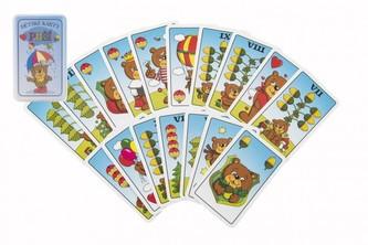 Prší jednohlavé dětské společenská hra - karty v plastové krabičce 7x11x2cm