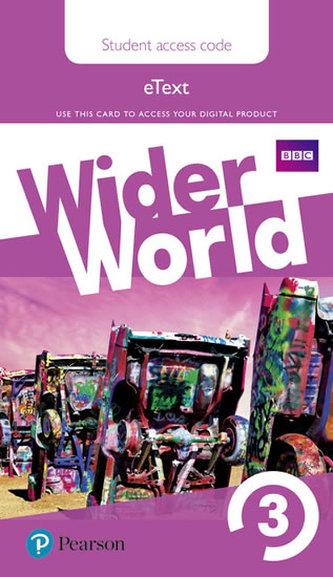 Wider World 3 eBook Students´ Access Card - neuveden