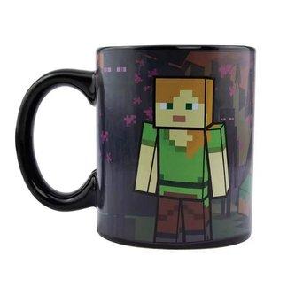 Černý proměňovací keramický hrnek Minecraft: Enderman (objem 300 ml)