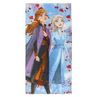 Dětský ručník - osuška Frozen: Anna & Elsa (140 x 70 cm) bavlna polyester