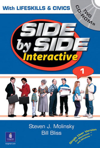 Side by Side Interactive 1, with Civics/Lifeskills (2 CD-ROMs) - Molinsky Steven J.