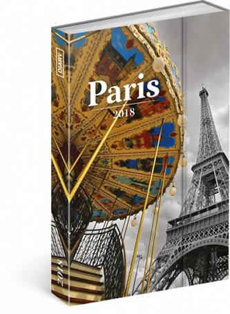 Diář 2018 - Paříž, týdenní magnetický, 10,5 x 15,8 cm - neuveden
