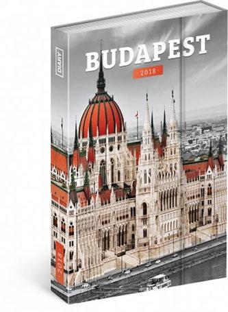 Diář 2018 - Budapešť, týdenní magnetický, 10,5 x 15,8 cm - neuveden