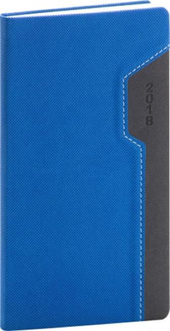 Diář 2018 - Thun - kapesní, modročerný, 9 x 15,5 cm - neuveden