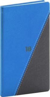 Diář 2018 - Triangl - kapesní, černomodrý, 9 x 15,5 cm