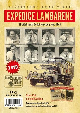 Expedice Lambarene - 3 DVD v papírové pošetce s letákem - neuveden