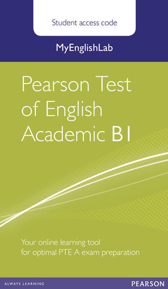 MyEnglishLab Pearson Test of English Academic B1 Standalone Student Access Card - neuveden