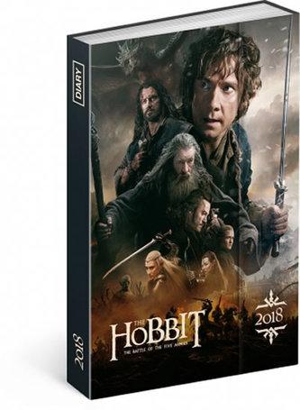 Diář 2018 - Hobbit, týdenní magnetický, 10,5 x 15,8 cm - neuveden