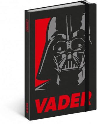Diář 2018 - Star Wars – Vader, týdenní, 10,5 x 15,8 cm - neuveden