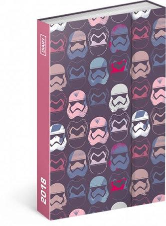 Diář 2018 - Star Wars, týdenní magnetický, 10,5 x 15,8 cm - neuveden