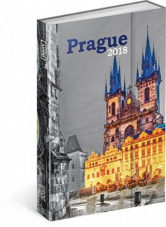 Diář 2018 - Praha, týdenní magnetický, 10,5 x 15,8 cm - neuveden