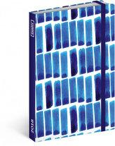 Diář 2018 - Modré pruhy, týdenní, 10,5 x 15,8 cm
