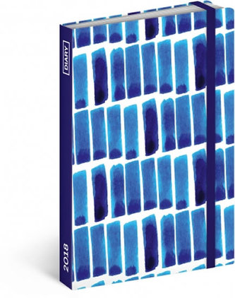 Diář 2018 - Modré pruhy, týdenní, 10,5 x 15,8 cm - neuveden