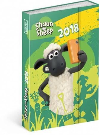 Diář 2018 - Ovečka Shaun, týdenní magnetický, 10,5 x 15,8 cm - neuveden