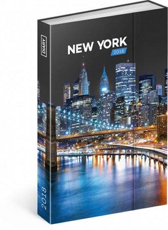 Diář 2018 - New York, týdenní magnetický, 10,5 x 15,8 cm - neuveden
