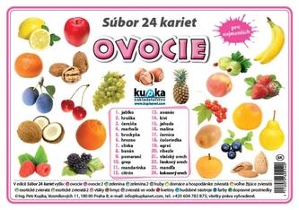 Súbor 24 kariet - ovocie - Kupka Petr
