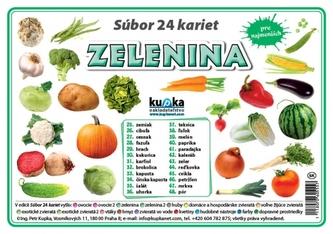 Súbor 24 kariet - zelenina - Kupka Petr