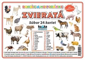 Súbor 24 kariet - zvieratá (domáce a hospodárske) - Kupka Petr