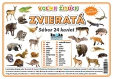 Súbor 24 kariet  - zvieratá (voľne žijúce)