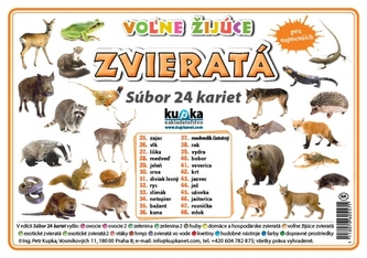 Súbor 24 kariet - zvieratá (voľne žijúce) - Kupka Petr