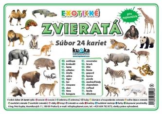 Súbor 24 kariet - zvieratá (exotické) - Kupka Petr