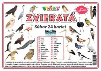 Súbor 24 kariet - zvieratá (vtáky) - Kupka Petr