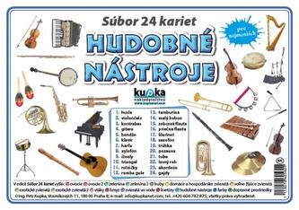 Súbor 24 kariet - hudobné nástroje - Kupka