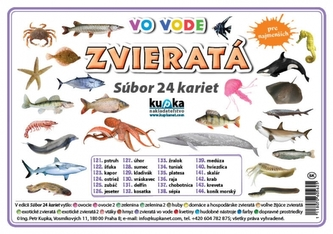 Súbor 24 kariet - zvieratá (vo vode) - Kupka Petr